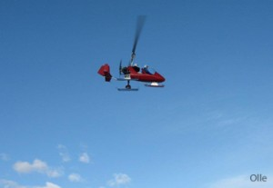 Vinterinventering med gyrokopter